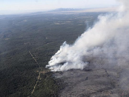 The Dog Head Fire as seen from the Black Hawk helicopter