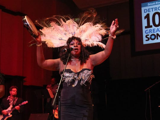 "Martha Reeves performs her hit ""Dancing in the Street"" at the Don Was Detroit All-star Revue during the Concert of Colors at the Max M. Fisher Music Center in Detroit on Saturday, July 16, 2016."