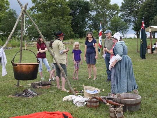 Visitors on Saturday were able to learn about different necessary skills and trades, such as weaving and blacksmithing.