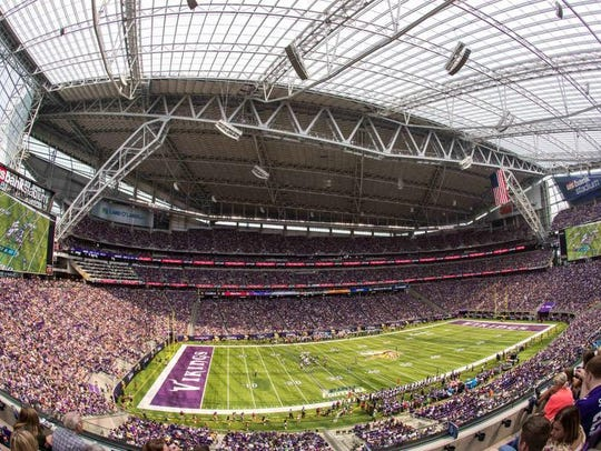 A general view of U.S. Bank Stadium during the first