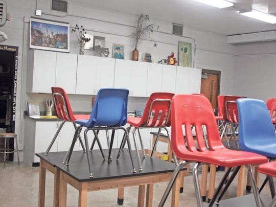 The art classroom has an all-new appearance, with new