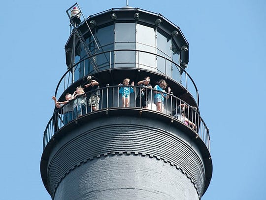 Children survey the landscape on a recent trip to the Pensacola Lighthouse.