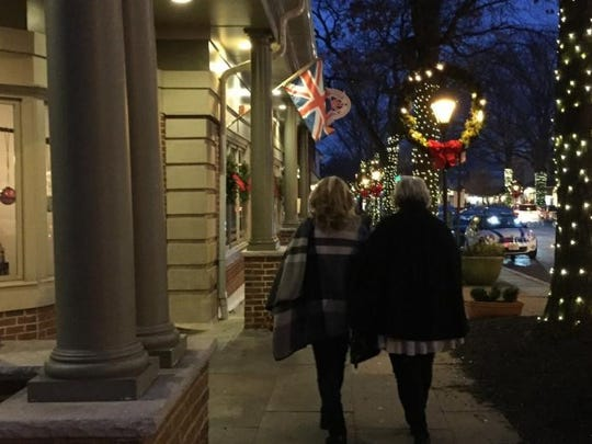 Candlelight shopping is a festive affair in Haddonfield.