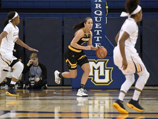 Jenny Lindner and the UW-Milwaukee women's basketball
