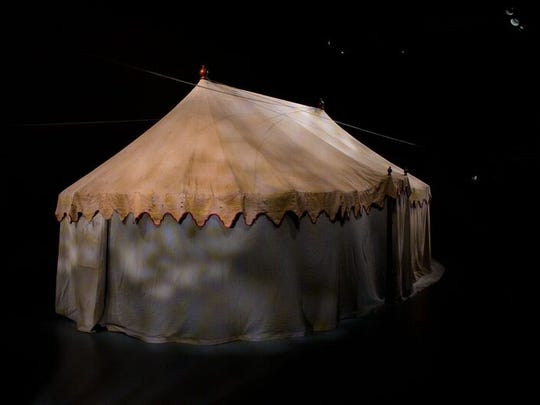 "Washington's field tent, the ""first Oval Office"" on display at the Museum of the American Revolution in Philadelphia"