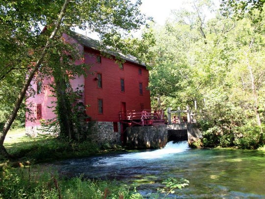 Alley Mill near Eminence and the Jacks Fork River is
