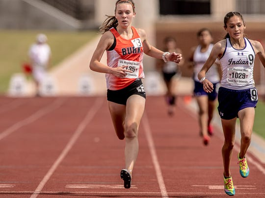 Burkburnett's Madelaine Johnston came in second by .06 of a second Friday in the Region I-4A 3,200.