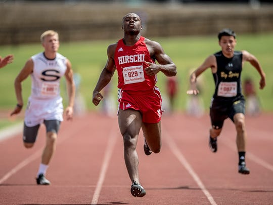 Hirschi's Roman Turner dusted the field at the Region I-4A Meet two weeks ago, posting a 10.29 in the preliminaries.