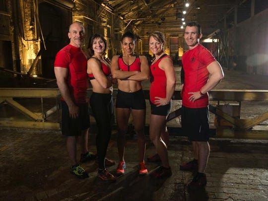 Spartan Ultimate Team Challenge Team Better Halves, from left, Steve Myers, Chris Anne Myers, Team Captain Yeniz Parton, Courtney Kaczmark and Ryan Kaczmark.