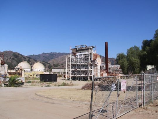 A 2012 photo of the old Petrochem refinery off Highway