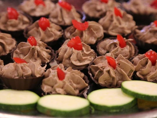 Zucchini mousse shows how the vegetable can be used in a dessert. The Village celebrated the variety of ways zucchini can be used in an Aug. 8 event.