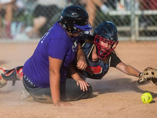 Rocky Mountain High School catcher Kendall Glasgow