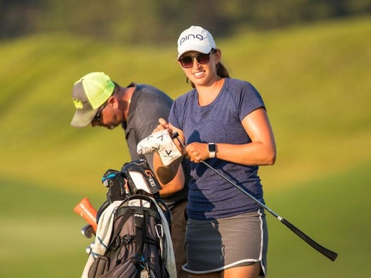 Elizabeth Szokol shot a 9-under 63 Friday to lead the Symetra Guardian Championship at Robert Trent Jones Golf Trail in Prattville.