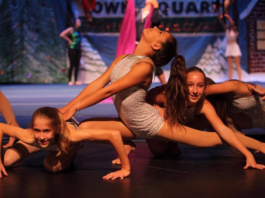 Kennedy Torrent, Savannah Durand and Rylee Woodall perform in the 2016 Vero Beach Recreation Department holiday production.
