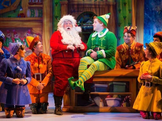"Mark Fishback is Santa Claus and Sam Hartley plays Buddy, with the Elf Tour Company 2017. ""Elf the Musical"" plays at the Tennessee Theatre in December."