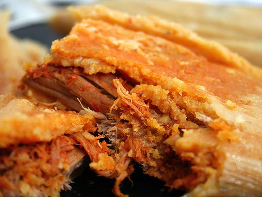 Pork Tamales are a traditional Christmas dish in New Mexico.