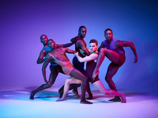 Dance, dance, dance: Some members of the Alvin Ailey American Dance Theater strike a pose.