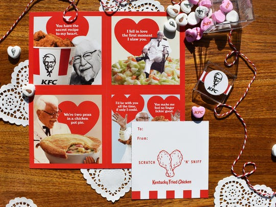 KFC's valentines come in four different intoxicating