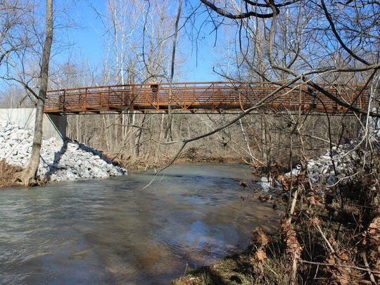 A new bridge over the South Dry Sac River is part of
