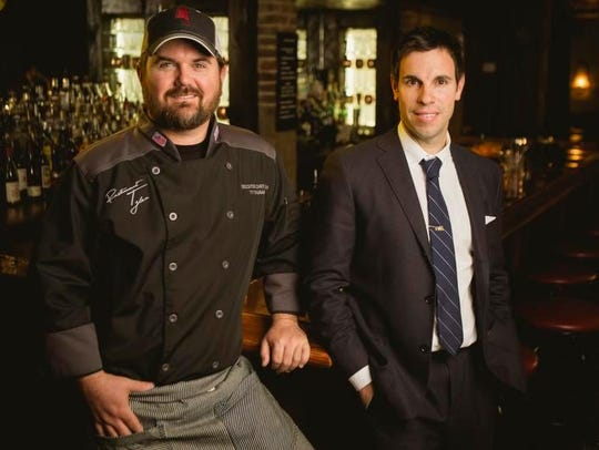 """Chef Jonathan """"Ty"""" Thames, left, and Brian Kelley,"""