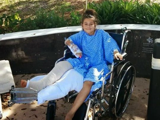 Summer was 10 years old when she was hit by a car and rushed to the hospital with a broken leg.