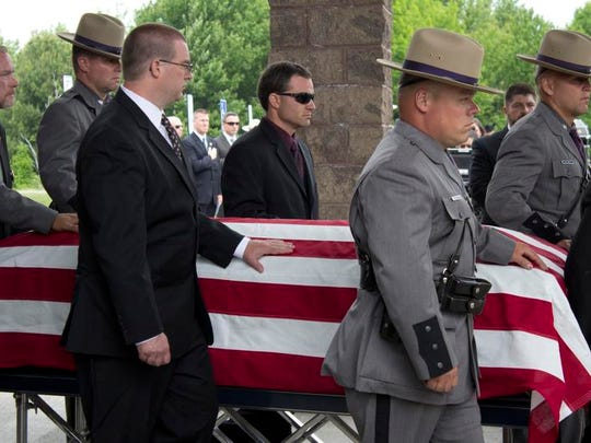 The funeral service for Trooper Skinner, who was killed