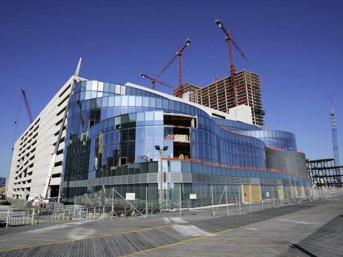 Construction of Revel Casino is seen Thursday, Jan.