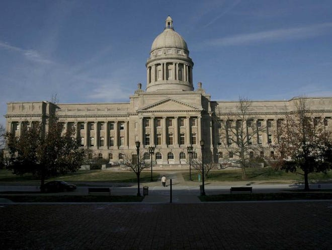 The legislature is trying to finish up business during the current session at the State Capitol in Frankfort.