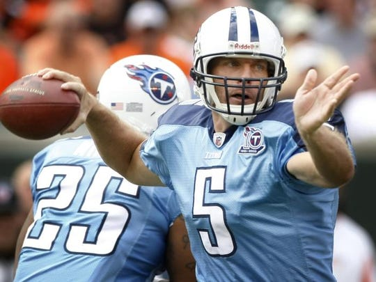 Kerry Collins -- 32 games started as a Titans quarterback