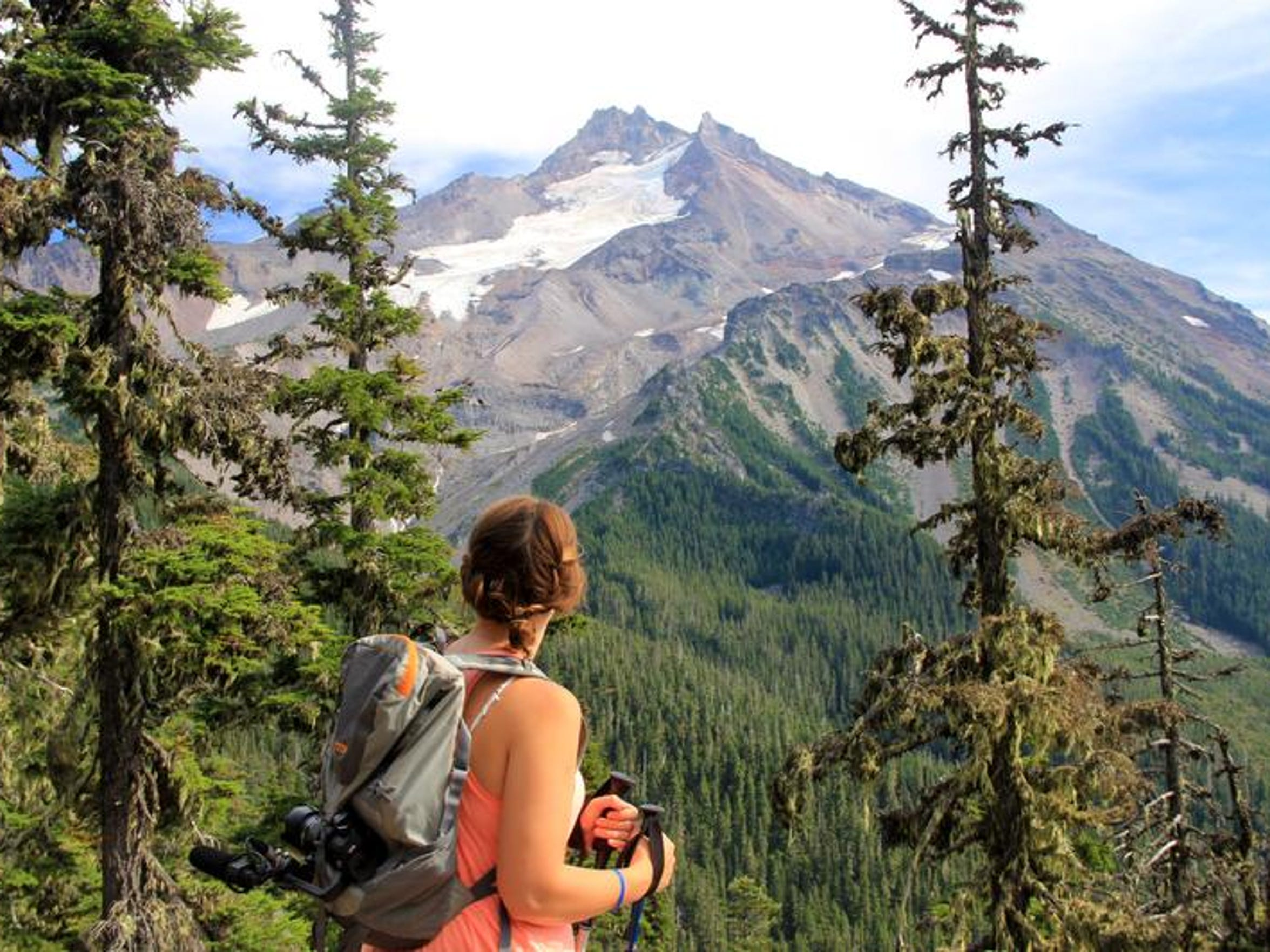 The view of Mount Jefferson from the trail leading to Jefferson Park offers excellent views of Oregon's second tallest mountain.