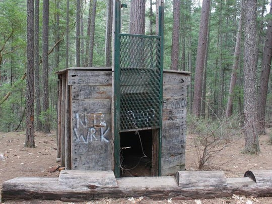 The Bigfoot Trap on Collier Mountain Trail near Applegate Lake in the Applegate Valley.