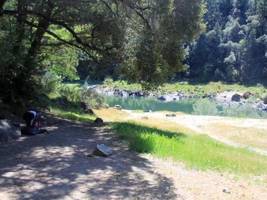 The Rogue River Trail features many nice campsites along the river including Whiskey Creek, seen here.