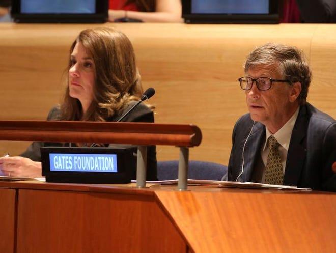 Bill and Melinda Gates at the Millennium Development Goals event on Sept. 25 at U.N. headquarters.