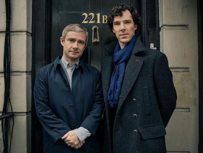 "Season 3 of ""Sherlock"" runs through Feb. 2 on the BBC Masterpiece series, shown Sundays on PBS. The hit retelling of the Sir Arthur Conan Doyle classic tale stars Benedict Cumberbatch and Martin Freeman as Holmes and Watson."