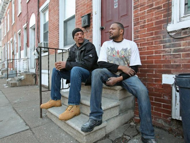 Kyle Winters (left), 43, and Vance Thorpe, 46, both laborers, found a noose hanging over the wall they were working on Feb. 26 at their job site in New Jersey. Fearing for their safety, the two filed a complaint with the police after nothing was done at the site other than removing the noose.