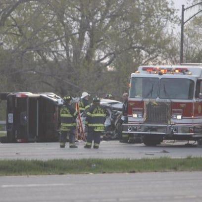 Emergency crews on scene of fatal crash on Route 104