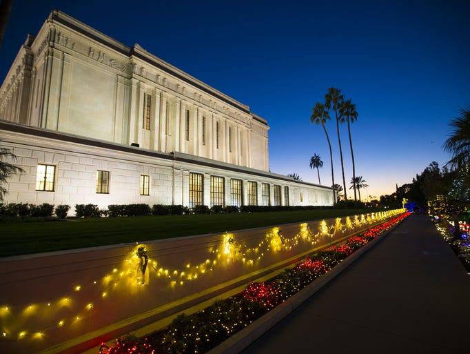 Mesa Temple Christmas Lights