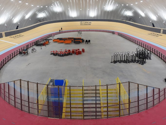 The Lexus Velodrome houses a 166-meter cycling track