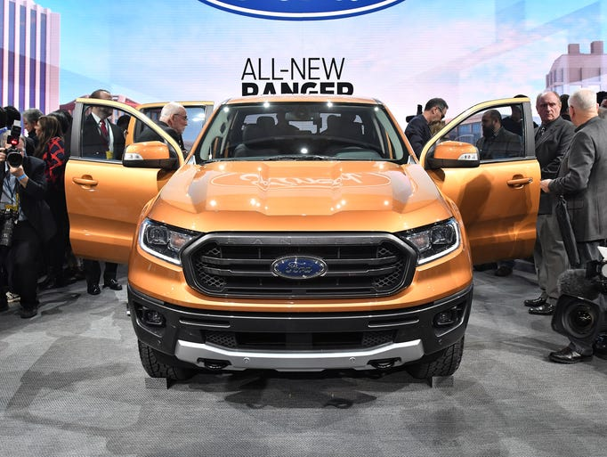 Ford unveils the 2019 Ranger on Sunday, Jan. 14, 2018,