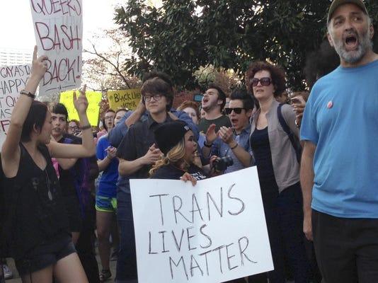 LBGT protestors