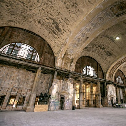 The interior of the Michigan Central Station in the