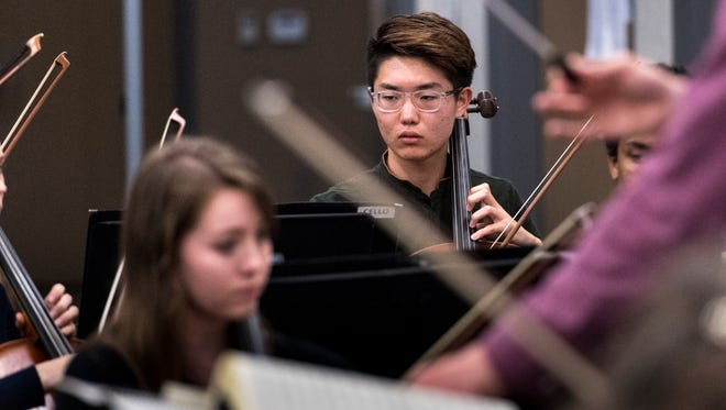 Joseph Kim, 17, has been the Redwood principal cellist for all four years of his high school career.