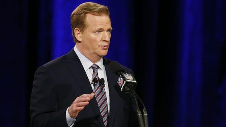Jan 30, 2015; Phoenix, AZ, USA; NFL commissioner Roger