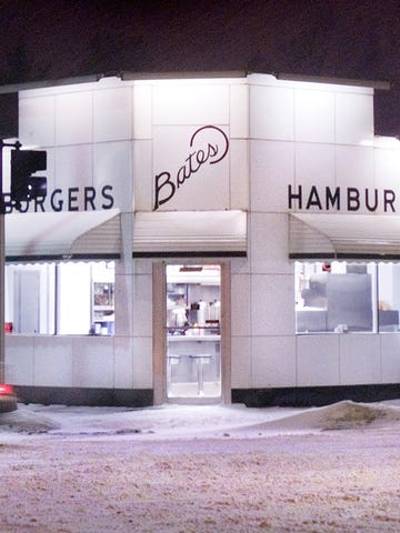 Bates, still open at 9:30pm on a snowy February night