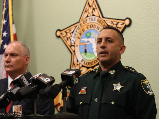 Lee County Undersheriff Carmine Marceno announces the