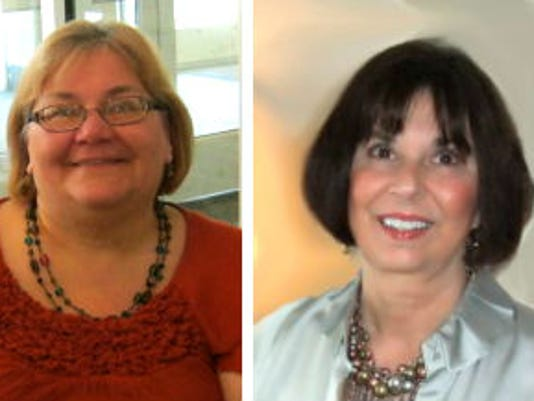 Cumberland Township author Bernadette Loeffel-Atkins, left, and Abbottstown author Jill Pritchett. (Submitted photos)