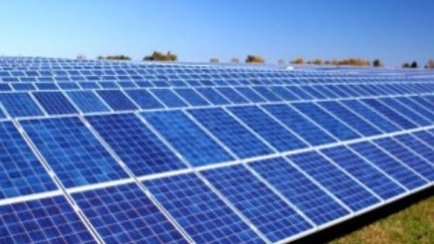 Solar panels such as these have an average service span of 30 to 35 years.