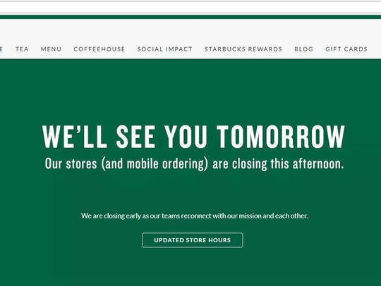 Starbucks stores nationwide close their doors on Tuesday