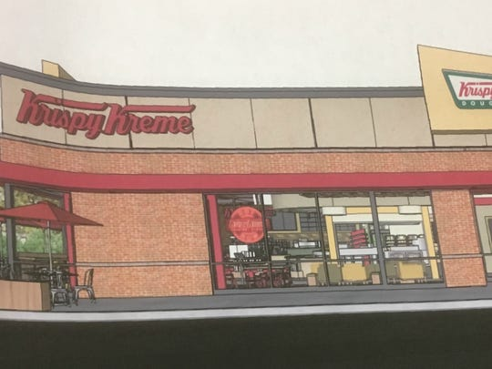 This rendering shows the exterior of the Krispy Kreme planned for Murfreesboro.
