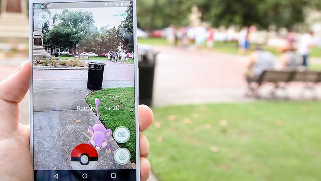 Pokémon Go allows players to use an augmented reality setting that activates the phone's camera and overlays the game's graphics on top of the camera's view to make the game feel more personal and realistic.
